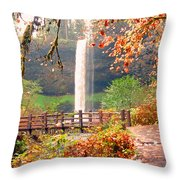 Silver Falls State Park Throw Pillow