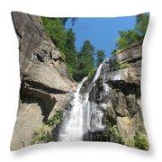Silver Falls View II Throw Pillow