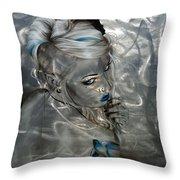 Silver Flight Throw Pillow