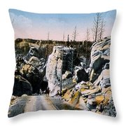 Silver Gate Road Yellowstone Np Throw Pillow