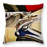 Silver Grayhound Throw Pillow