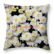 Silver Greetings Throw Pillow