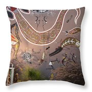 Silver Gull Central Cairns Throw Pillow