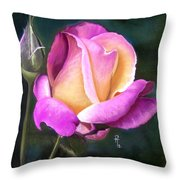Silver Jubilee Throw Pillow