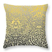 Silver Lace Frost Throw Pillow