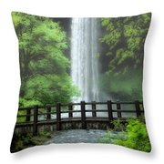 Silver Lake Falls Throw Pillow
