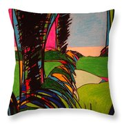 Silver Lining 9 Throw Pillow