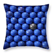 Silver Lost  In Blue Throw Pillow