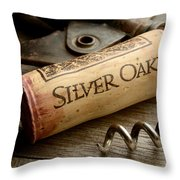 Silver On Silver Throw Pillow