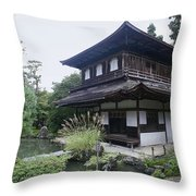 Silver Pavilion - Kyoto Japan Throw Pillow