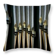 Silver Pipes Throw Pillow