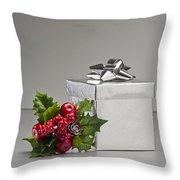 Silver Present Throw Pillow