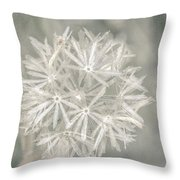 Silver Puff Throw Pillow