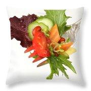 Silver Salad Fork Throw Pillow