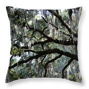 Silver Savannah Tree Throw Pillow