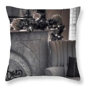Silver Screen Throw Pillow