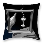 Silver Space Champagne Throw Pillow