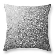 Silver Speckles  Throw Pillow