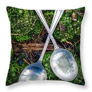 Silver Spoons  Throw Pillow