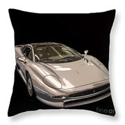 Silver Sports Car Throw Pillow by Edward Fielding