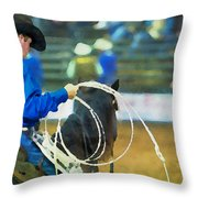 Silver Spurs Rodeo Outrider Throw Pillow