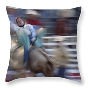 Silver State Stampede 2014 Happy Bronc Rider Throw Pillow