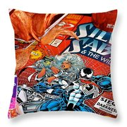 Silver Venom Throw Pillow