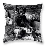 Silversmith At Work Throw Pillow