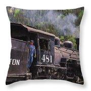 Silverton Engine 481 Throw Pillow