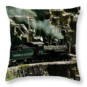 Silverton Steam Locomotive  Throw Pillow