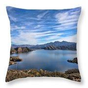 Silverwood Lake Throw Pillow