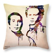 Simon And Garfunkel Throw Pillow by Aged Pixel