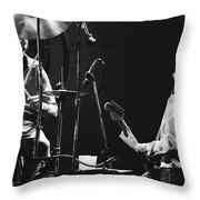 Simon And Mick Of Bad Company In 1977 Throw Pillow