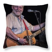 Simon Nicol Of Britian's Fairport Convention Throw Pillow
