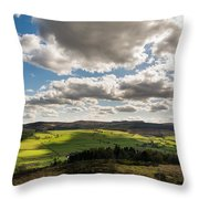 Simonside Hills From Rothbury Terraces Throw Pillow