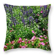 Simple Beauty - Purple And Pink Throw Pillow