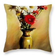Simple Bouquet Throw Pillow