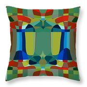 Simple Colors Throw Pillow