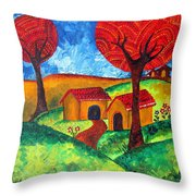 Simple Dreams Acrylic Painting Throw Pillow