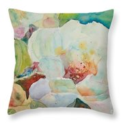Simple Floral Throw Pillow