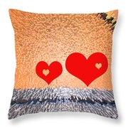 Simple Geometry 2 - See-through Hearts Throw Pillow