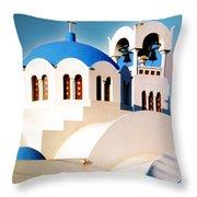 Simple Graphic Greek Church Throw Pillow