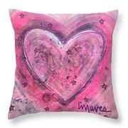 Simple Love Simple Heart Throw Pillow