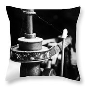 Simple Machinery Throw Pillow by Karol Livote