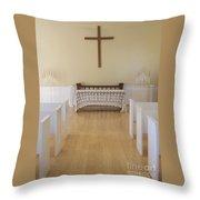Simple Sunlit Chapel Throw Pillow