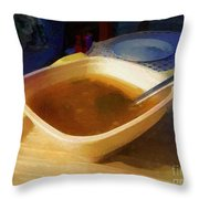 Simple Supper Throw Pillow