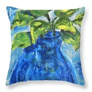 Simple Greens Throw Pillow