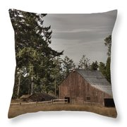 Simpler Times 2 Throw Pillow by Randy Hall