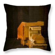 Simpler Times - Old Wooden Toy Truck Throw Pillow