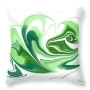Simplicity In Green Throw Pillow